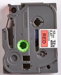 TZe-431 - červená/černý tisk, 12 mm - 2