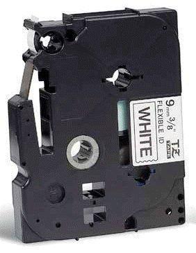 TZe-FX221 - bílá/černý tisk, flexibilní, 9 mm - 2