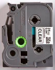TZe-151 - průsvitná/černý tisk, 24 mm - 2