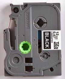TZe-335 - černá/bílý tisk, 12 mm - 2