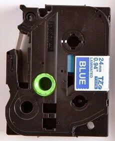 TZe-555 - modrá/bílý tisk, 24 mm - 2