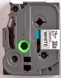 TZe-241 - bílá/černý tisk, 18 mm - 2