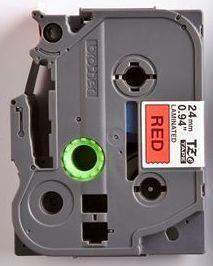 TZe-451 - červená/černý tisk, 24 mm - 2