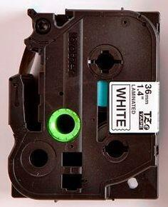 TZe-261 - bílá/černý tisk, 36 mm - 2