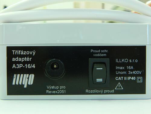 IP8012 - třífázový adaptér - 16A/4 pro přístroje REVEX - 2