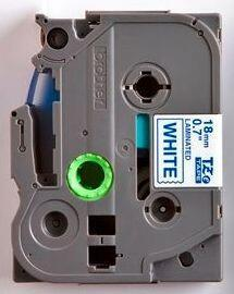 TZe-243 - bílá/modrý tisk, 18 mm - 2