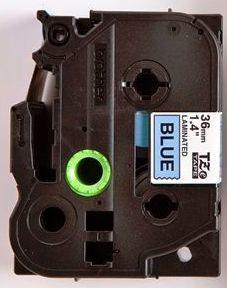 TZe-561 - modrá/černý tisk, 36 mm - 2