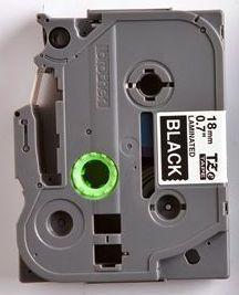 TZe-345 - černá/bílý tisk, 18 mm - 2