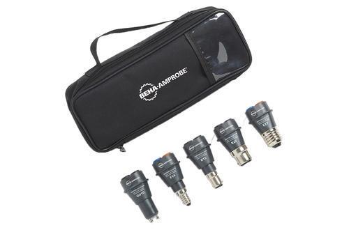 BEHA AMPROBE ADPTR-KIT-EUR - Sada adaptérů do patic B15, B22, E14, E27, GU10 s pouzdrem - 2