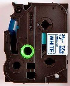 TZe-263 - bílá/modrý tisk, 36 mm - 2
