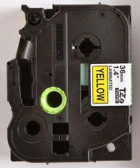 TZe-661 - žlutá/černý tisk, 36 mm - 2