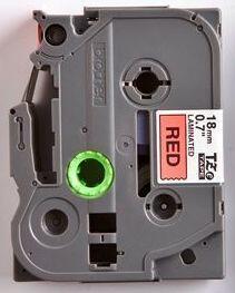 TZe-441 - červená/černý tisk, 18 mm - 2