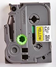 TZe-S631 - žlutá/černý tisk, extrémně adhezivní, 12 mm - 2