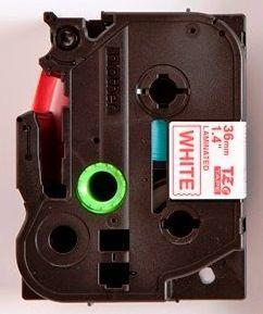 TZe-262 - bílá/červený tisk, 36 mm - 2
