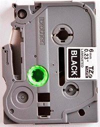 TZe-315 - černá/bílý tisk, 6 mm - 2