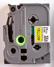 TZe-S651 - žlutá/černý tisk, extrémně adhezivní, 24 mm - 2