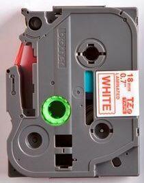 TZe-242 - bílá/červený tisk, 18 mm - 2