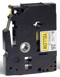 TZe-FX611 - žlutá/černý tisk, flexibilní, 6 mm - 2