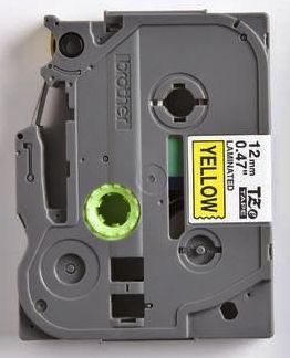 TZe-631 - žlutá/černý tisk, 12 mm - 2