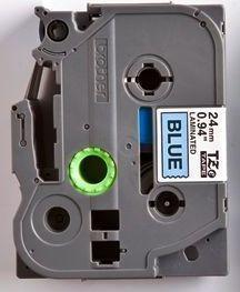 TZe-551 - modrá/černý tisk, 24 mm - 2