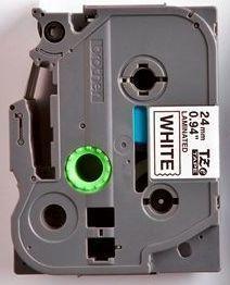 TZe-251 - bílá/černý tisk, 24 mm - 2
