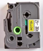 TZe-S641 - žlutá/černý tisk, extrémně adhezivní, 18 mm - 2
