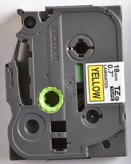 TZe-641 - žlutá/černý tisk, 18 mm - 2