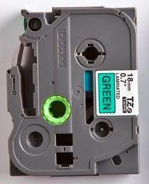 TZe-741 - zelená/černý tisk, 18 mm - 2