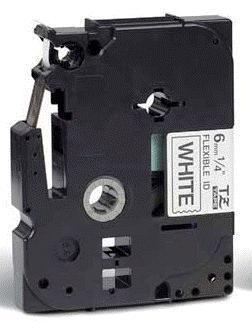 TZe-FX211 - bílá/černý tisk, flexibilní, 6 mm - 2