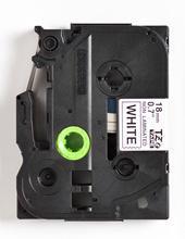 TZe-N241 - nelamin. páska 18 mm bílá/černý tisk, do tiskárny PT - 2