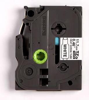 HSe-231 - bužírka bílá/černý tisk (12 mm) - 2