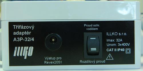 IP8014 - třífázový adaptér - 32A/4 pro REVEXplus a REVEXprofi (II) - 2