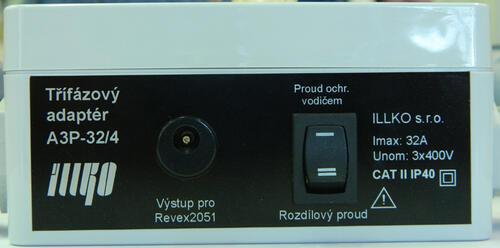 IP8014 - třífázový adaptér - 32A/4 pro přístroje REVEX - 2