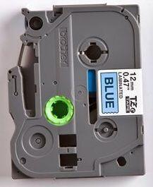 TZe-531 - modrá/černý tisk, 12 mm - 2