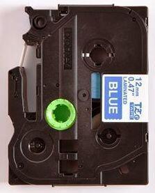 TZe-535 - modrá/bílý tisk, 12 mm - 2