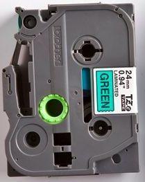 TZe-751 - zelená/černý tisk, 24 mm - 2