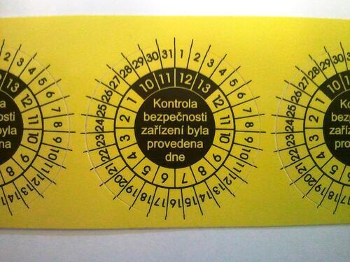 IP9081 - štítky pro označování kontrol svářeček (10 ks) - 2