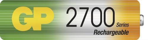 Nabíjecí baterie GP NiMH 2700 HR6 (AA), 4 ks - 3