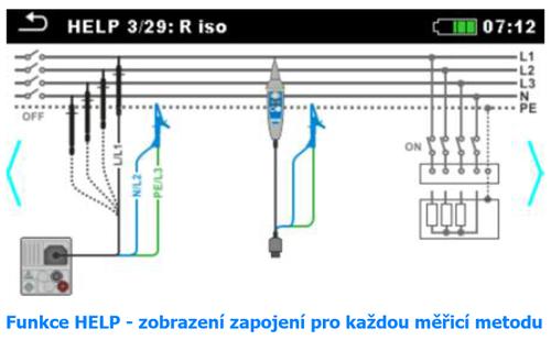 METREL Eurotest XC EU (MI 3152) - revize instalací a hromosvodů + barevný dotykový displej - 4